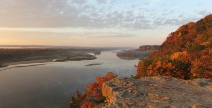 2014: Sunrise at Ferry's Bluff, Wisconsin River; PC: Eric Carson