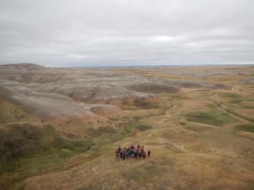 2015: students in the Badlands, South Dakota