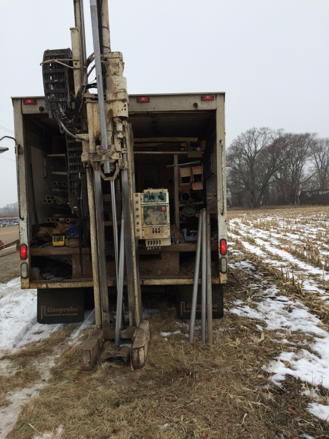 2014: Wisconsin, collecting cores from ice age lakes turned corn fields